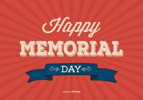 Illustration d'arrière-plan du Memorial Day vecteur