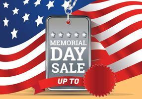 Modèle de fond de vente de Memorial Day