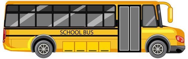 autobus scolaire jaune sur fond blanc vecteur