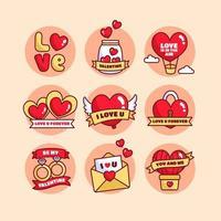 signes d'amour pour la saint valentin vecteur