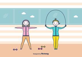 Contexte Vectoriel de Fitness