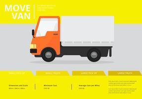 Déménagement en camion ou camion. Transport ou livraison Illustration. vecteur