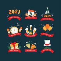 icône de fête du nouvel an 2021