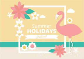 Illustration vectorielle d'été tropical gratuite