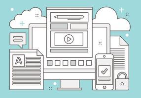 Illustration de médias numériques vectoriels gratuits