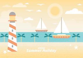 Paysage gratuit pour les vacances d'été vecteur