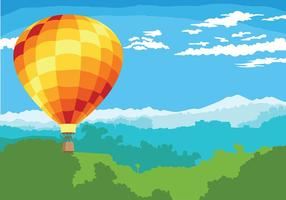 Fond de vecteur de ballon à air chaud