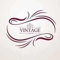 calligraphie de carte de voeux ornement vintage vecteur