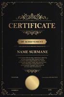 modèle de certificat d'appréciation vecteur