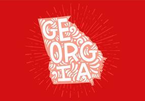 Lettres d'état de la Géorgie vecteur