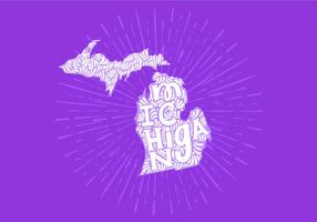 Lettre d'état du Michigan vecteur