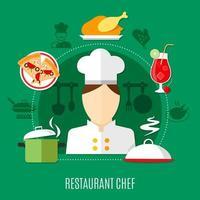 concept de chef de restaurant vecteur