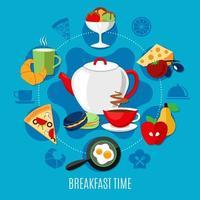 concept de restaurant diner et petit déjeuner vecteur