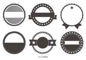 Rétro Collection Badges vecteur