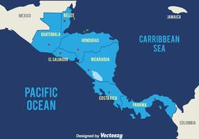Blue America Map Map Vector