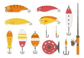 Vecteur de collection d'outils de pêche gratuits
