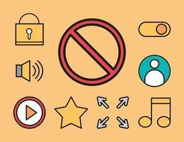 jeu d'icônes de l'interface utilisateur