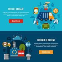 bannières de modèle horizontal de traitement des déchets