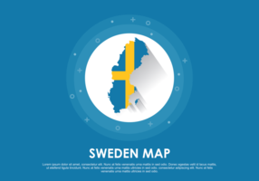 Illustration de la carte de Suède