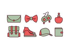 Pack d'icônes d'accessoires de mode vecteur