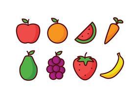 Pack d'icônes de fruits vecteur