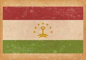 Drapeau grunge du Tadjikistan vecteur