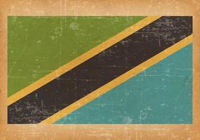 Drapeau grunge de la Tanzanie vecteur