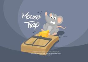 Illustration de piège à souris vecteur