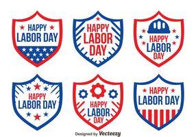 Bouclier Badge Labor Day Vectors