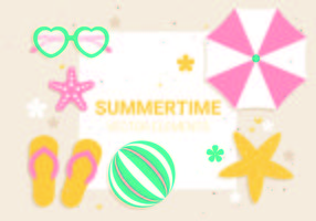 Free Vector Summer Time Illustration