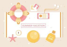 Free Flat Vector Summer Elements
