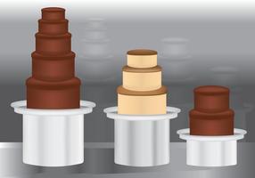 Fontaine de chocolat coloré vecteur