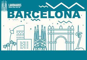 Horizon de la ville de barcelone vecteur