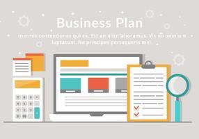 Éléments vectoriels gratuits du plan d'affaires