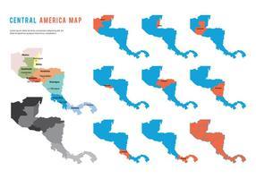 Vecteur de carte d'Amérique centrale