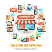 graphique rond des achats en ligne