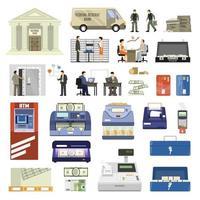 ensemble d'éléments de banque vecteur