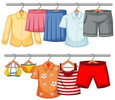 vêtements isolés sur le présentoir