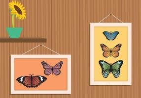 Mariposa libre en illustration de cadre