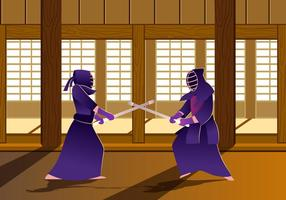 Kendo dojo vecteur