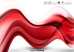 Vector Abstract Background - Red Vector Abstract Wave