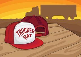 Fond d'écran du chapeau de camionneur vecteur