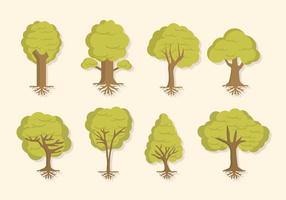 Vecteurs d'arbres plats vecteur