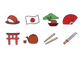 Paquet japonais d'icônes