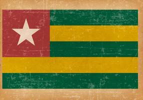 Drapeau grunge du Togo vecteur