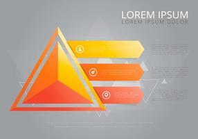 Modèle d'infographie Prism vecteur