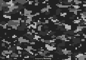 Fond de vecteur de camouflage numérique gris et noir