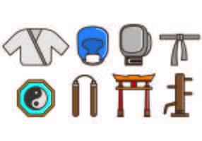 Ensemble d'icônes Dojo vecteur