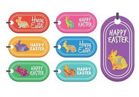 Ensemble de vecteur étiquette cadeau de Pâques
