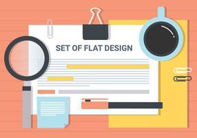 Éléments vectoriels de bureau de conception gratuite